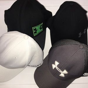 Bundle of 4 Under Armour and Oakley Mens Hats